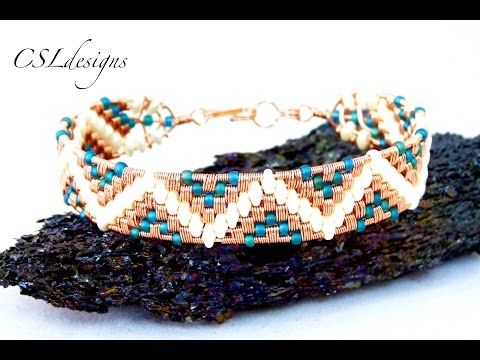 Aztec wirewoven bracelet - YouTube