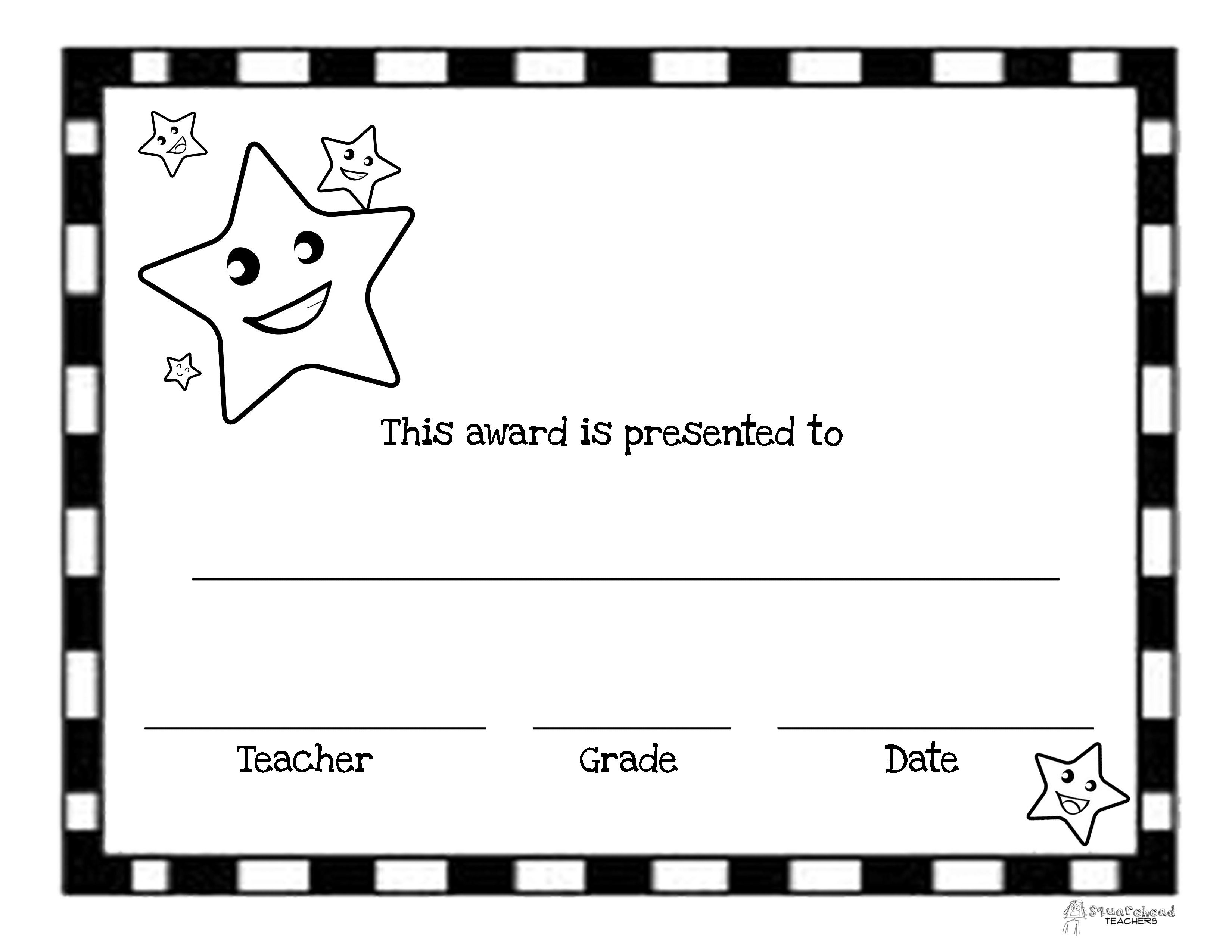 printable end of year awards | Kindergarten Activities | Pinterest