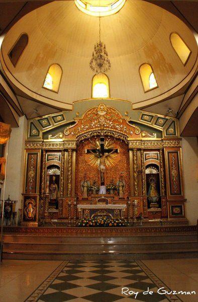 Interior Of San Ildefonso Parish Church Guiguinto Bulacan