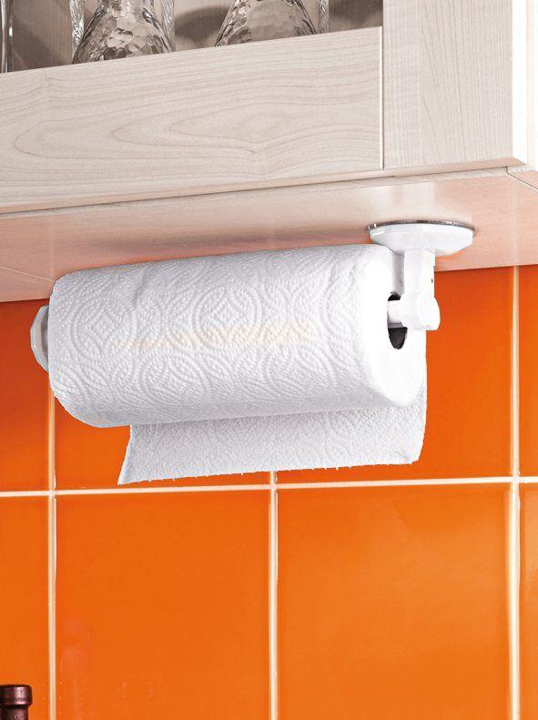 Soporte papel de cocina con ventosa for the home - Rollos adhesivos para muebles ...