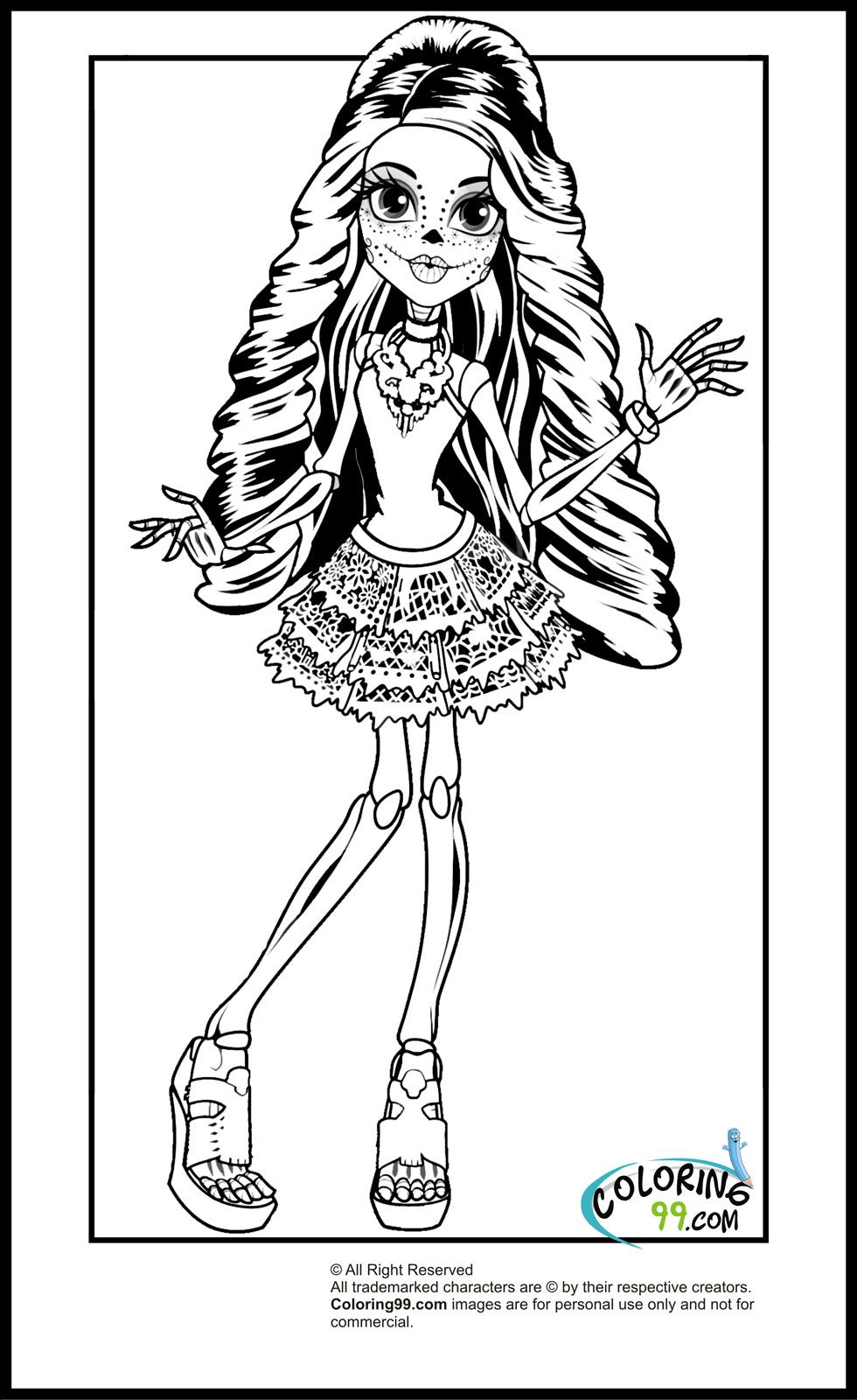 explore monster high coloring pages and more