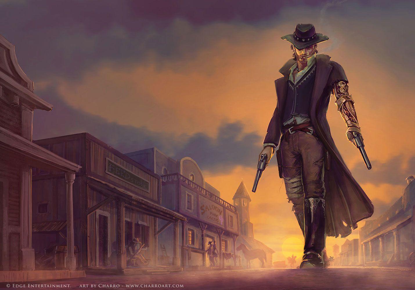 Pin .studio World Of Steampunk Art Cowboy