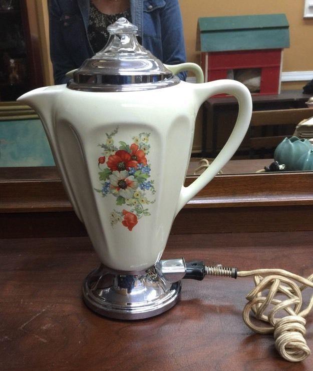 Vintage Samson Rochester No155 Porcelain Electric Coffee Percolator