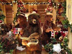 Bears, Christmas, Band, Lights