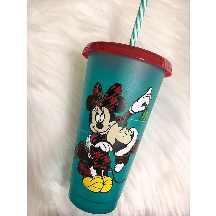 Starbucks 2019 Holiday Green cup with Christmas vinyl