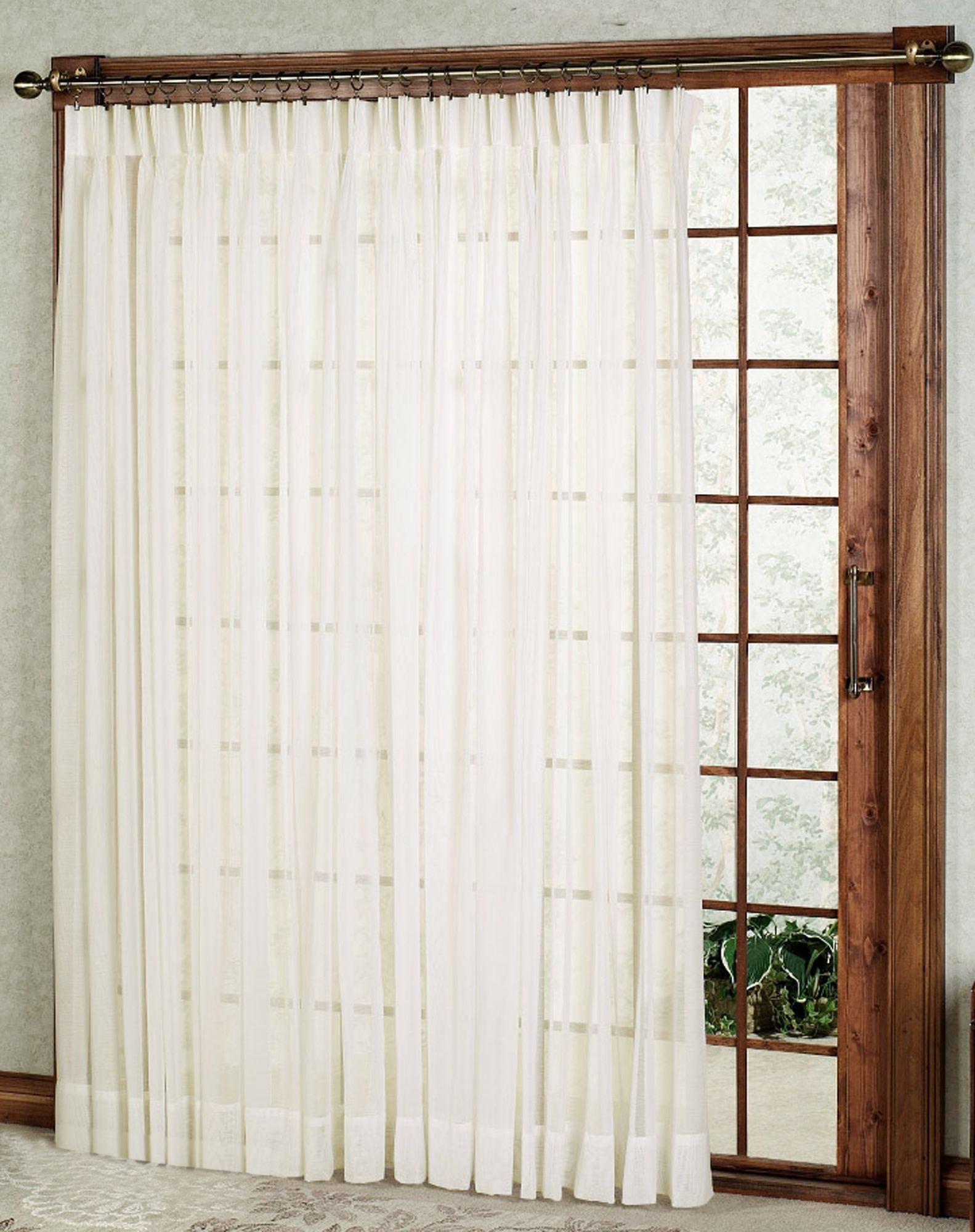 Splendor Batiste Pinch Pleat Patio Curtain Panel Panel Curtains Patio Curtains Curtains
