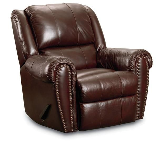 Summerlin Traditional Brown Leather Power Glider Recliner