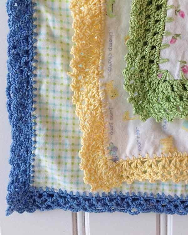 Receiving Blanket Eyelet Edging Crochet Pattern | Ganchillo ...