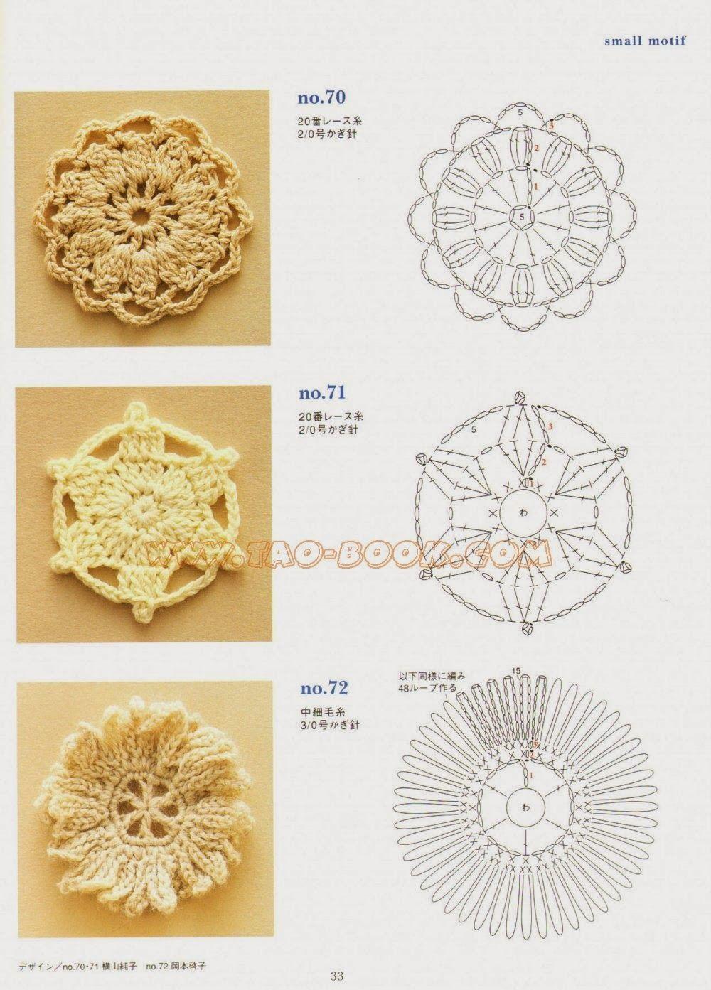 crochet motifs | uncinetto | Pinterest | Flores tejidas, Flores y Arte