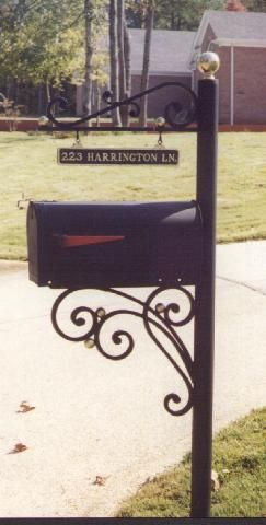Tuscumbia Iron Works Mailbox Post With Images Wrought Iron
