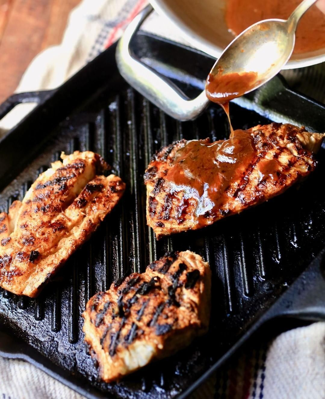 stacylynharriss castiron grill pan came in handy for whipping up this stunning blackened fish Show us how youre using your favorite pans this summer by posting with
