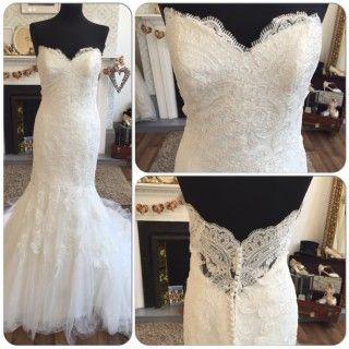 Intuzuri Darlene Size 10 Vintage Strapless Fishtail Lace Wedding Dress Holmfirth West Yorkshire 01484 766160