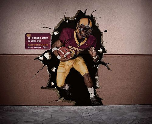 Sports Wall Murals cool breakthrough wall graphic - perfectly in-line with football's