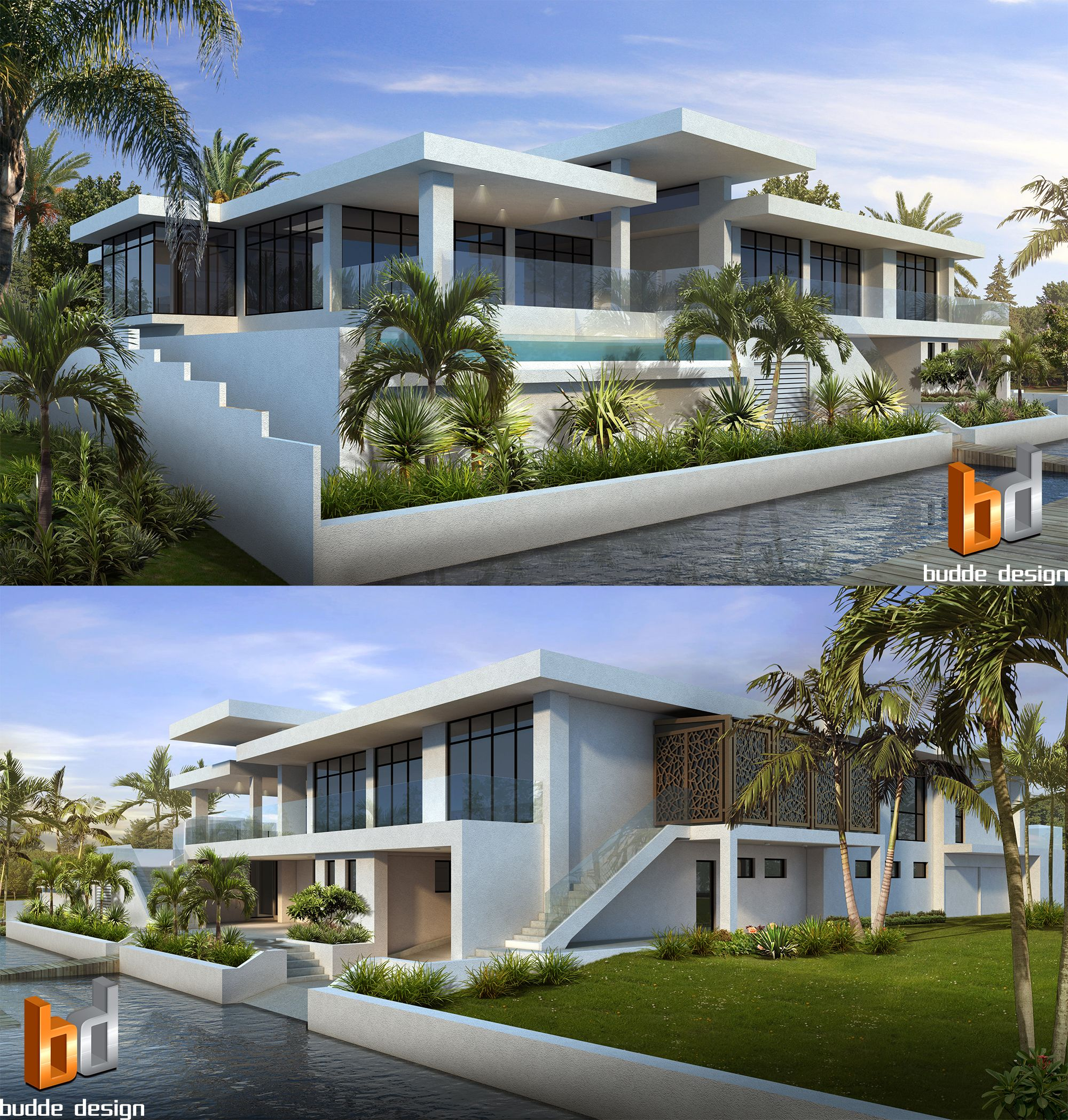 Home Design 3d Gold Ideas: 3D Rendering Canal Frontage Luxury Home Anglers Esplanade