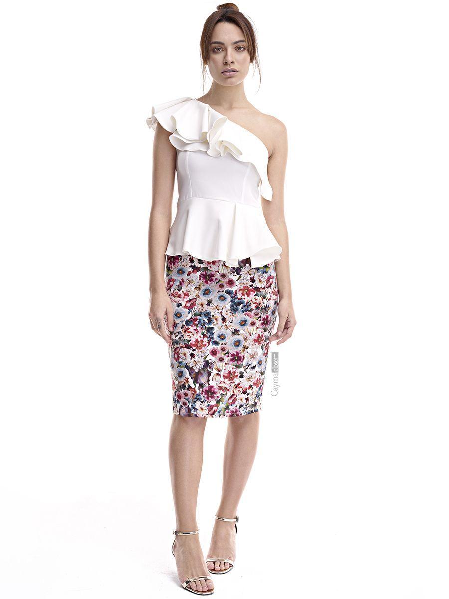8b4078354 Falda estampada de flores CAYMA | ~ FALDAS ~ | Vestidos, Faldas ...