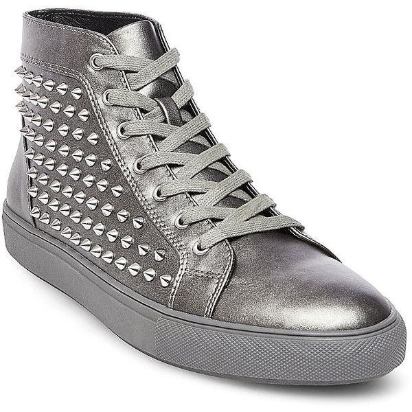 Steve Madden Men's Jekyll Sneakers (405 BRL) ❤ liked on Polyvore featuring men's  fashion, men's shoes, men's sneakers, silver, mens platform sneakers, mens  ...