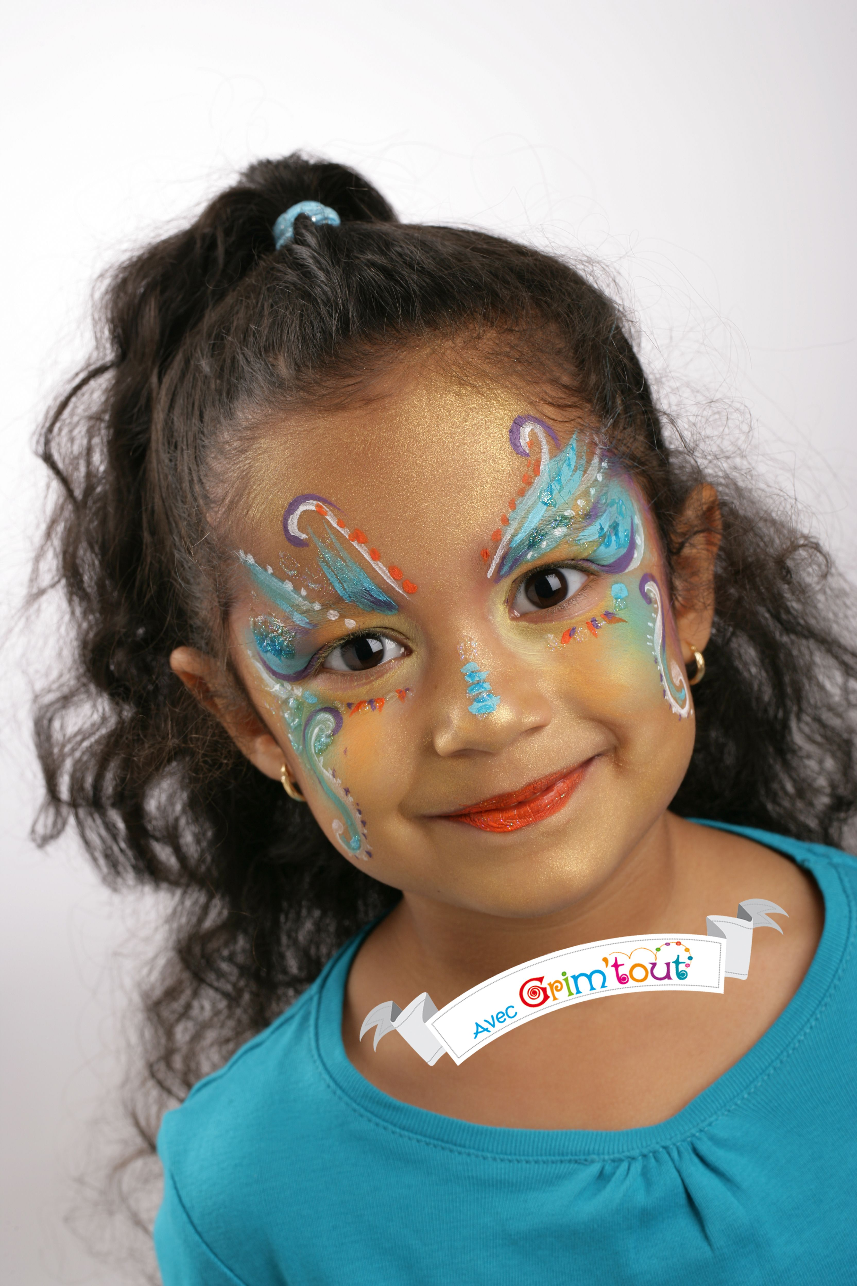 Un maquillage de papillon bleu !