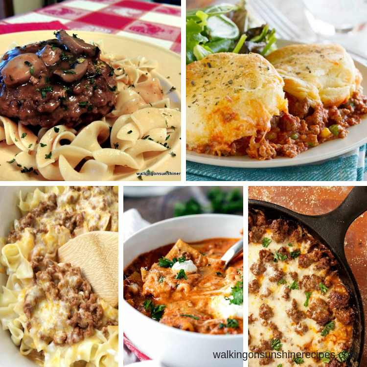 Easy and Delicious Ground Beef Recipes - Weekly Meal Plan images