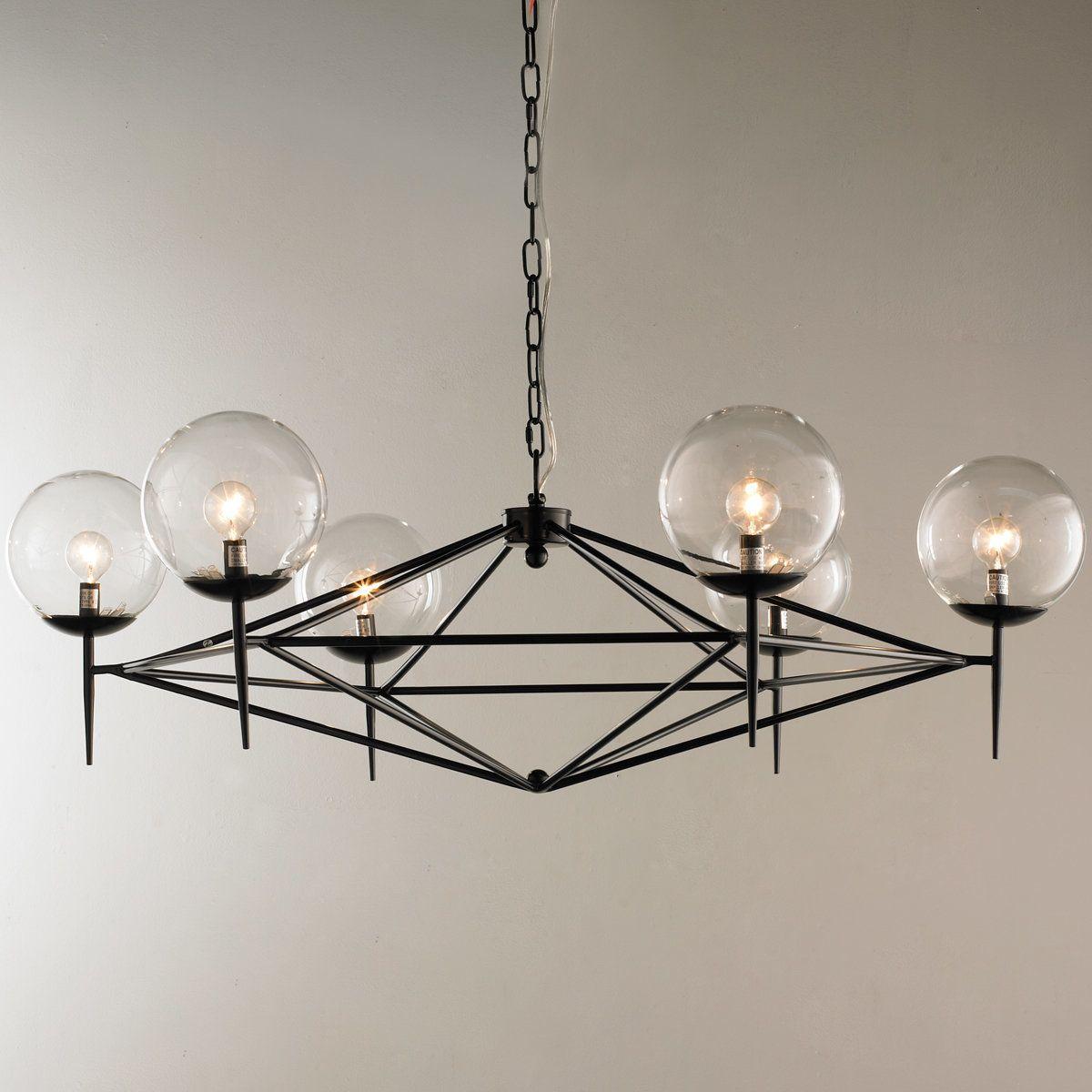 Hgtv Home Cassandra Blown Glass Mini Pendant Modern: Modern Pyramid Glass Globes Chandelier