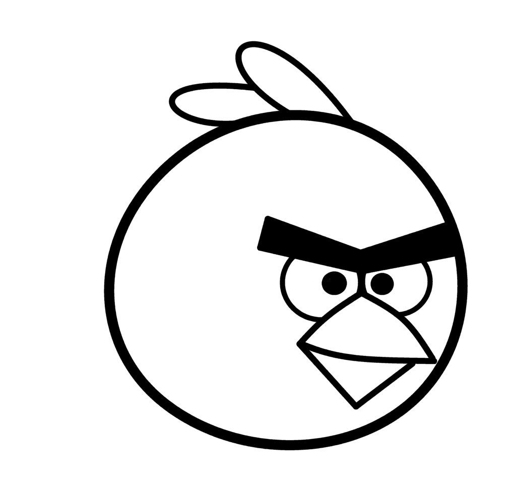 Angry Birds Face Clipart