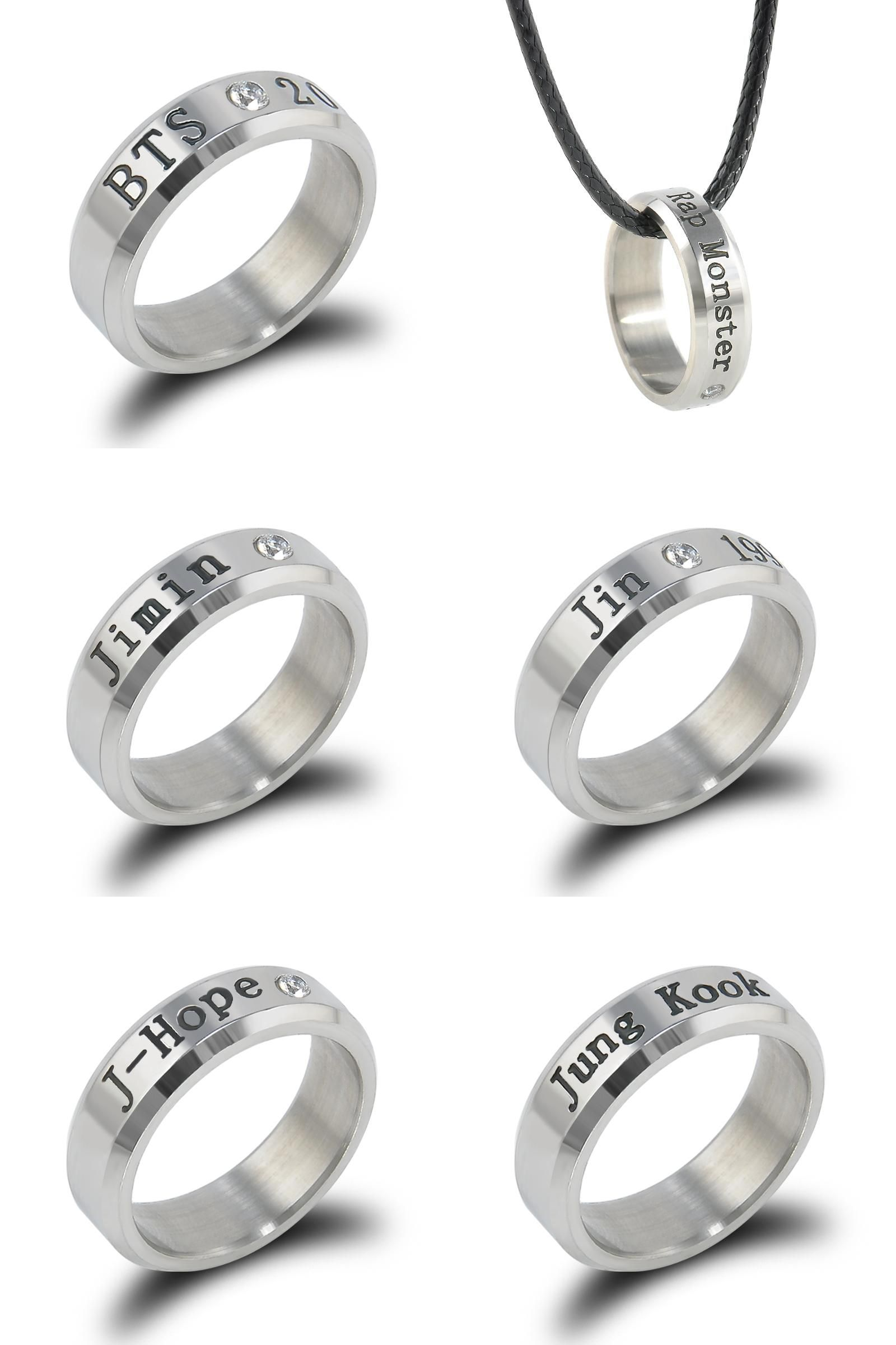 Visit to Buy] BANGTAN BOYS BTS Ring Men Women Stainless Steel KPOP