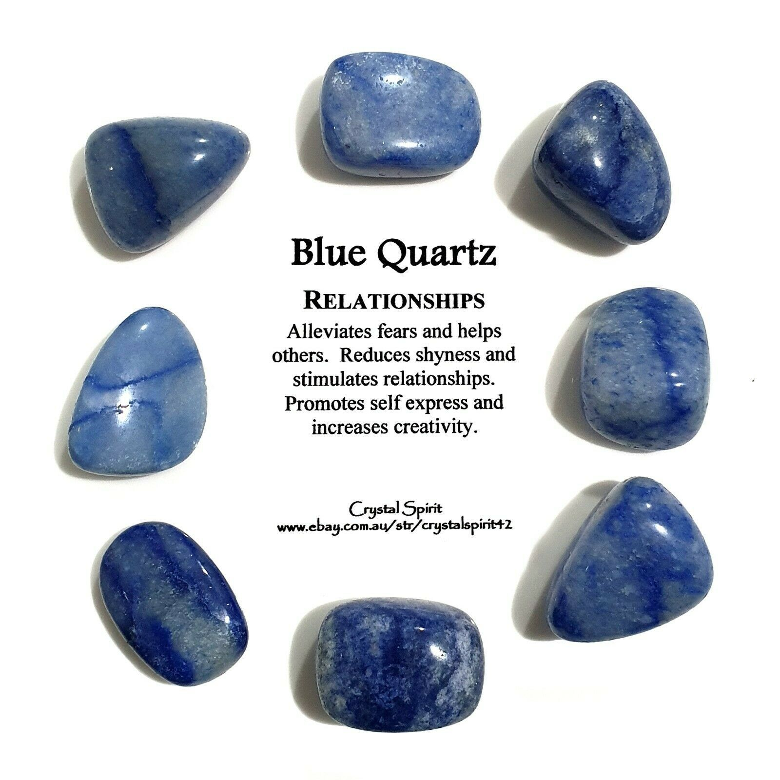 1 Blue Quartz Natural Tumbled Stone Tumble Stone Trusted Seller Blue Quartz Crystal Healing Stones Crystals And Gemstones