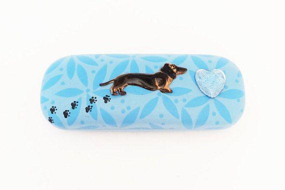 6a62873672d9 Dog Eyeglass Case Dachshund Glasses Case Blue by IGotYourCase ...