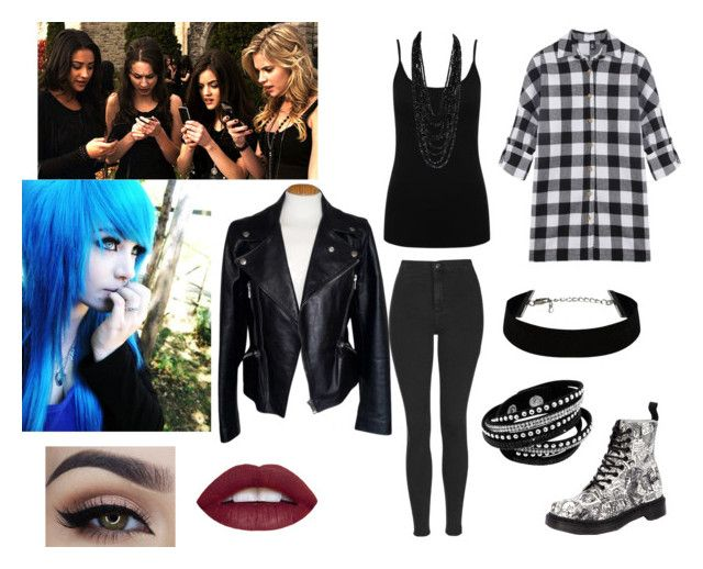 """""""Pll Ali's Funeral"""" by courtney-ayre on Polyvore featuring M&Co, Topshop, Dr. Martens, Alexander McQueen, women's clothing, women, female, woman, misses and juniors"""