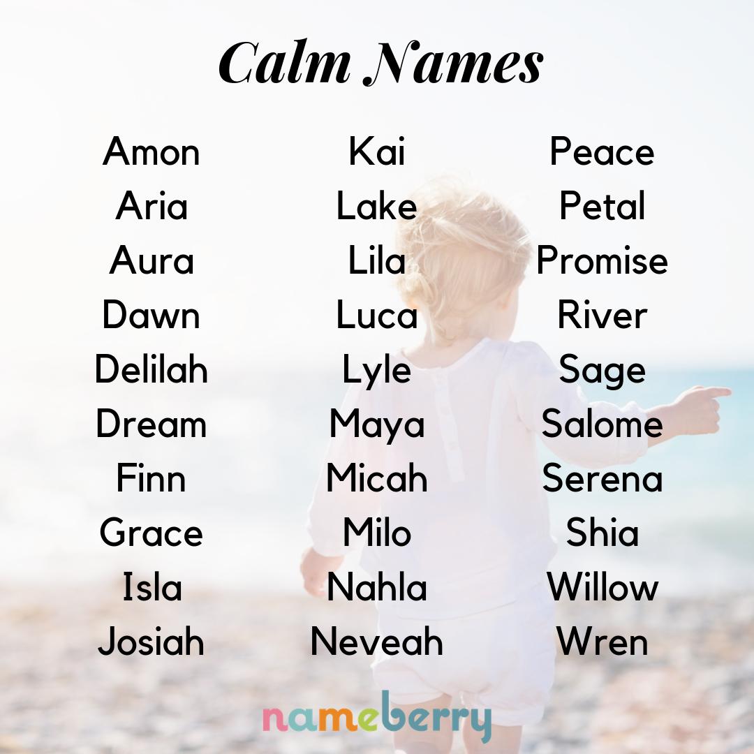 44 Calm Names | Baby Names
