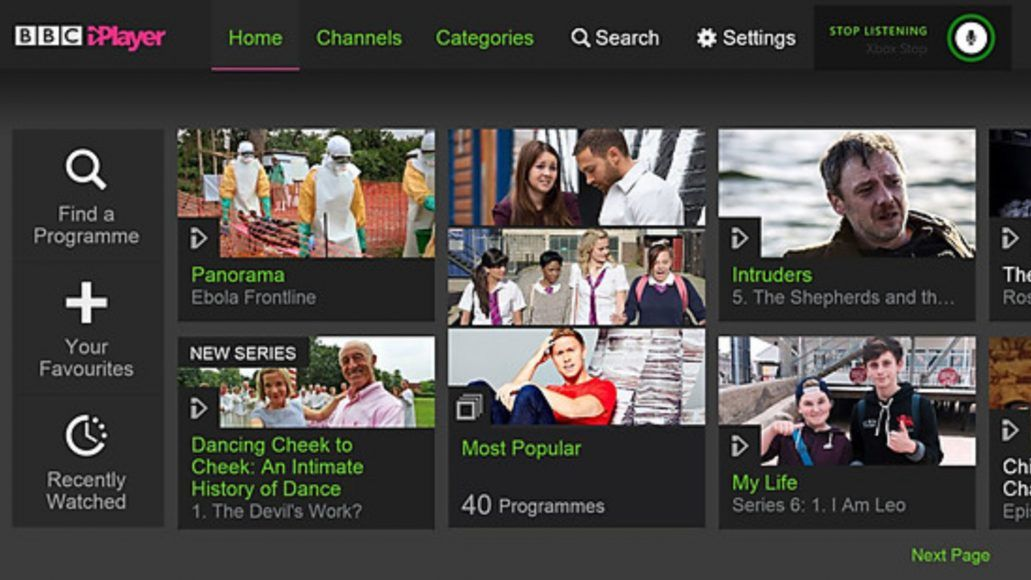 Time to get an Xbox One! Xbox 360's BBC iPlayer app to