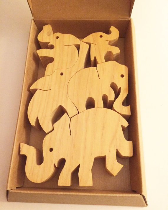 Tarata Wooden Balancing Elephants Puzzle For Adults And Children 4