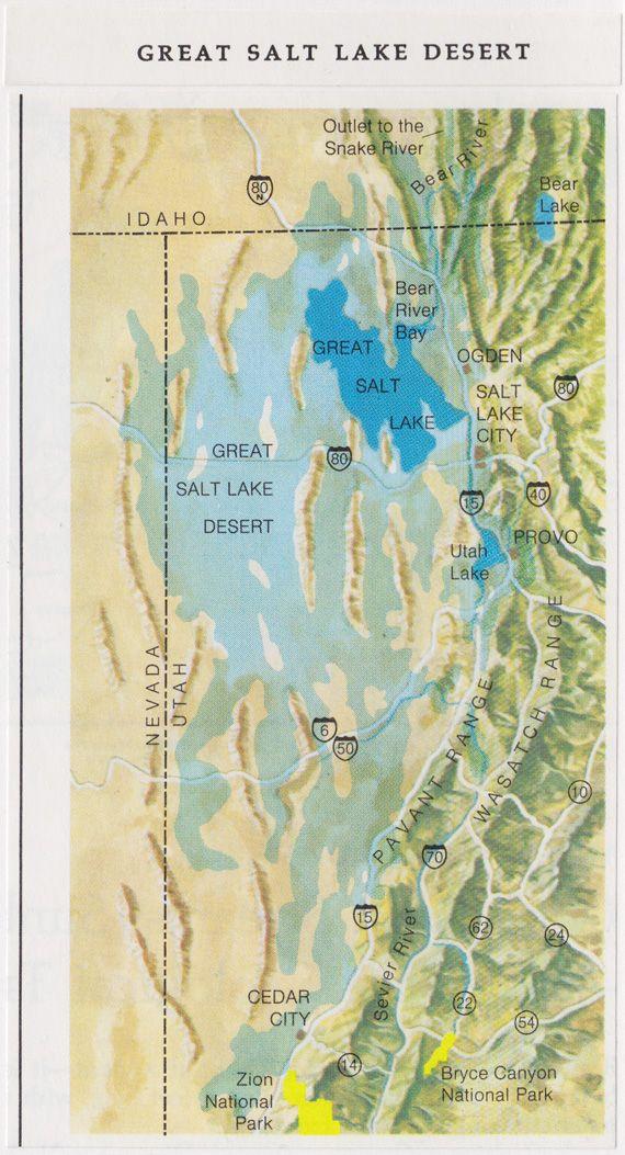 great salt desert map Great Salt Lake Desert Map C3 W22 Utah Lakes Bear Lake Idaho great salt desert map