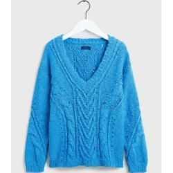 Photo of Gant Zopfmusterpullover (blau) Gant