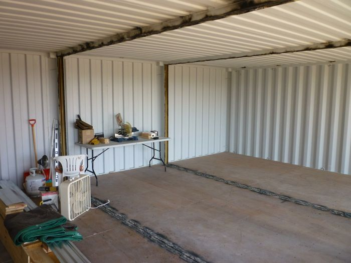 Corte paredes contenedores para construir una casa - Contenedores maritimos casas ...