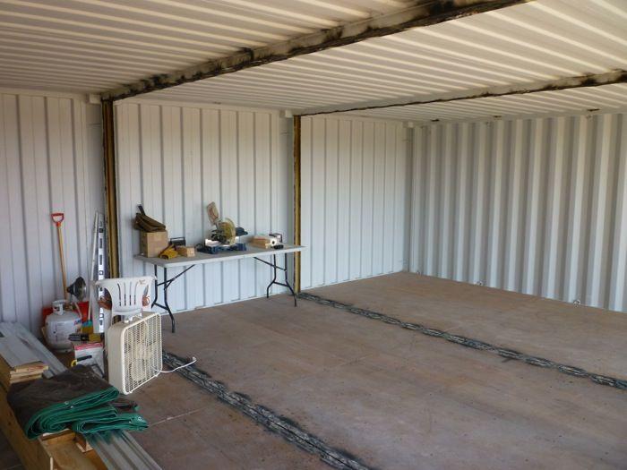 Plumbers Pipe Cladding : Corte paredes contenedores para construir una casa