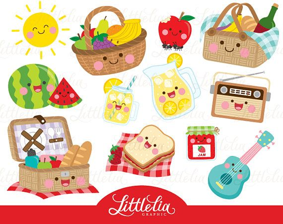 Instant Download Buy 3 Get 1 Free Here You Will Find 12 Clipart Elements You Will Be Receiving Files As Below Kawaii Clipart Summer Clipart Clip Art