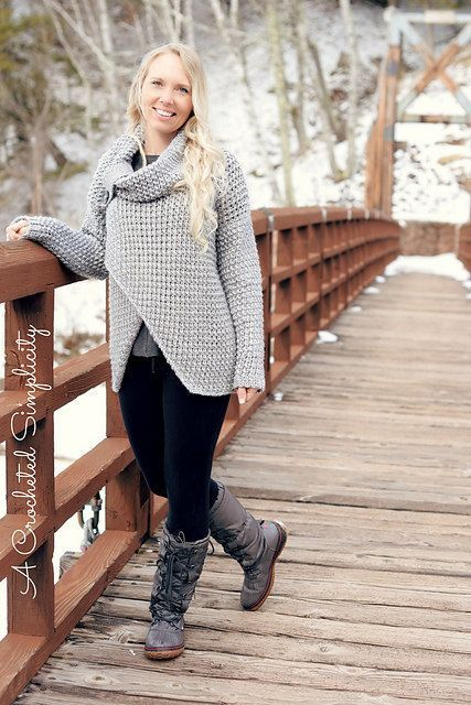 Crochet Pattern: Urban Crossover Pullover **Permission to sell finished items