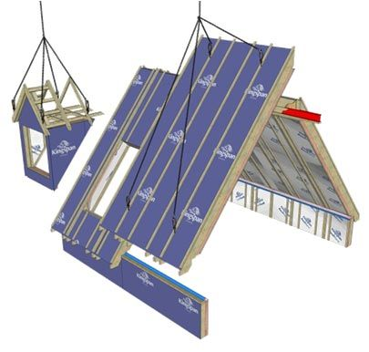 Roof systms dormer units prefabricated dormer assemblies for Prefab roof