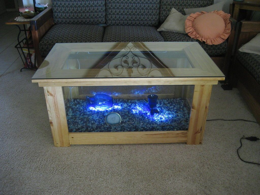 Spectacular DIY Fish Tank Coffee Table - Free Guide and ... on homemade outside tables, exotic furniture designs, homemade plank table, homemade table ideas, homemade wooden tables, homemade table crafts, homemade table gifts, homemade end tables, homemade furniture, homemade rocking chair, homemade table lighting, homemade woodworking table, homemade chair covers, homemade table legs, homemade green egg table, homemade table saws, homemade metal table, homemade table tops, homemade table signs, homemade table plans,