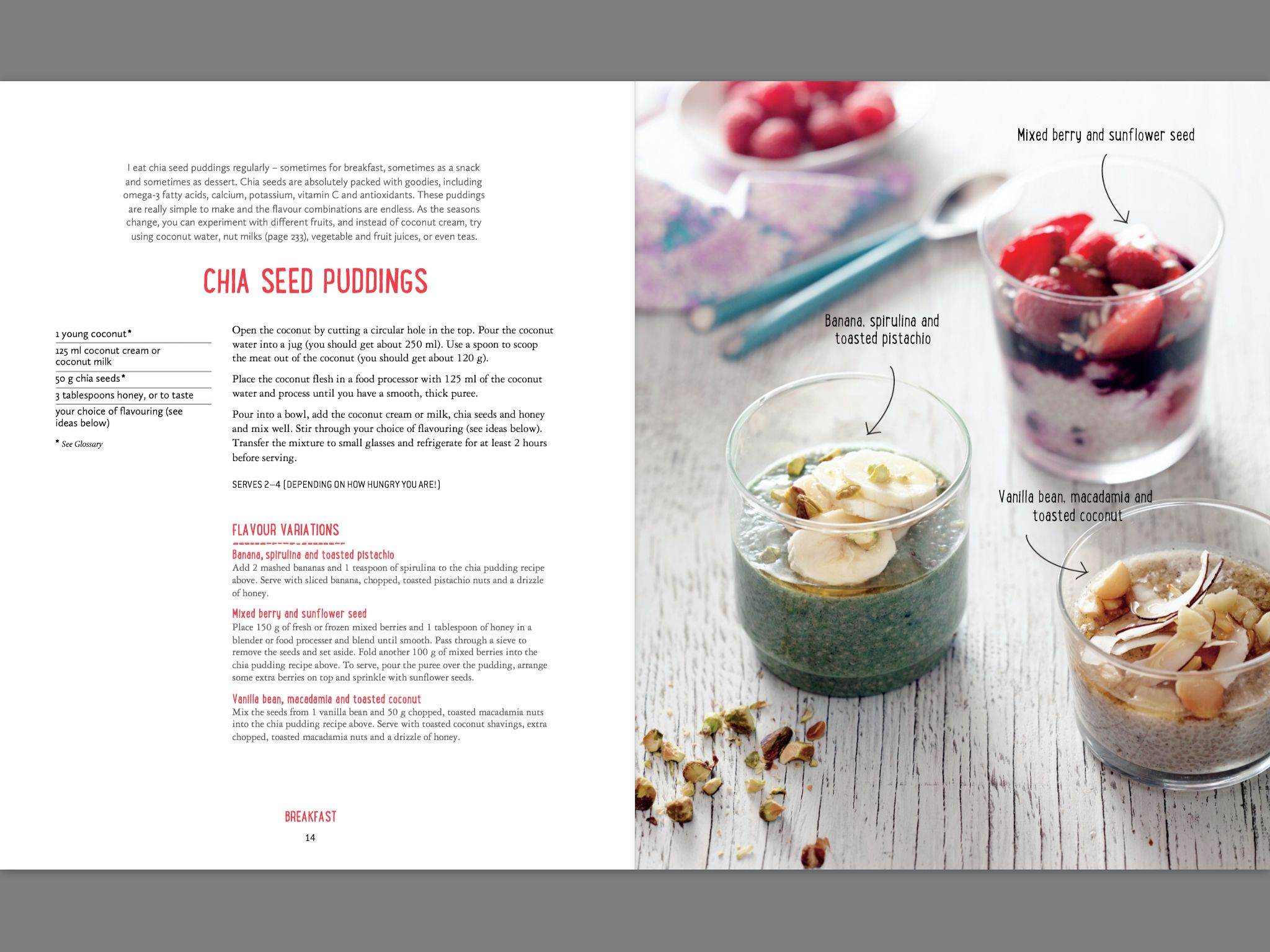 Chia pudding from Pete Evans - swap sweetener for stevia ...