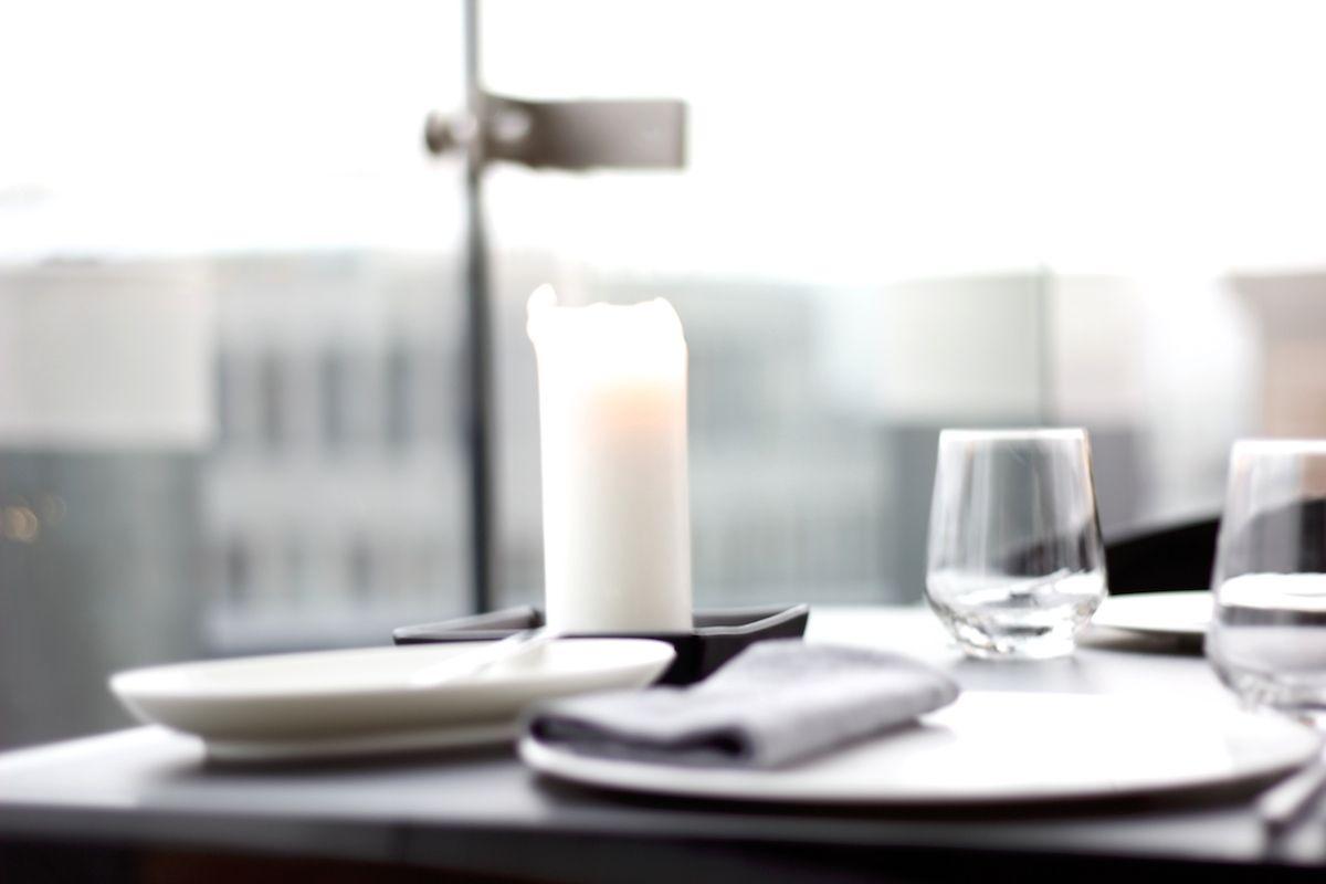 Restauracja Concept 13, Vitkac, nakrycie stołu