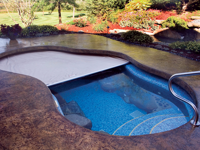 8 Ways To Secure Your Pool At Night Automatic Pool Cover Inground Pool Covers Pool At Night