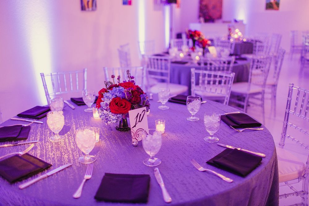 Red and Purple Wedding- Table Setting | Purple & Red Wedding ...