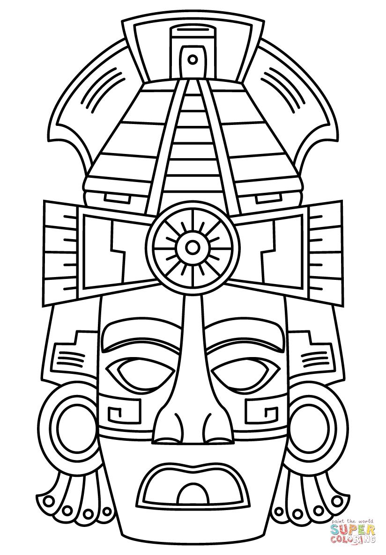 Mayan art, Mayan mask, Maya art