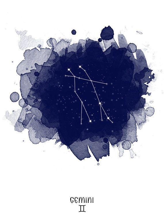Pin by Sam on Watercolor Inspiration Gemini constellation, Gemini