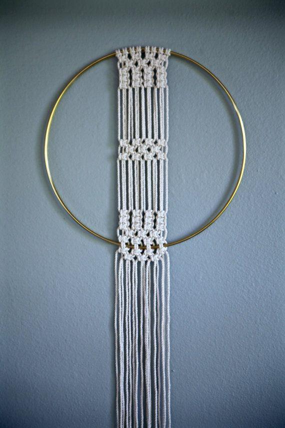 Macramé mural - coton blanc naturel corde de 50\