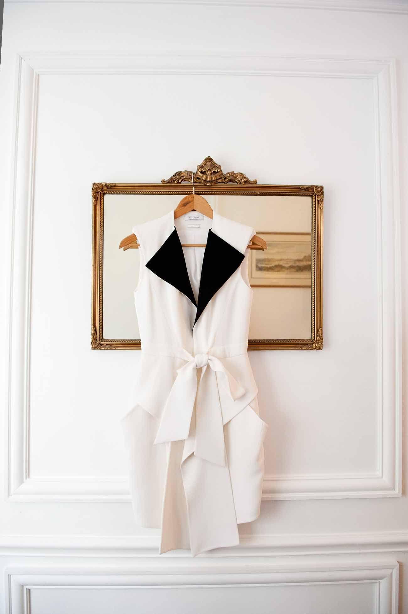 noir & blanc, noeud & chemise