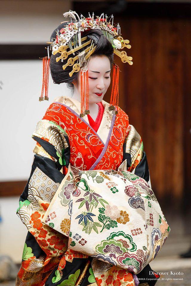 A woman dressed as a tayuu