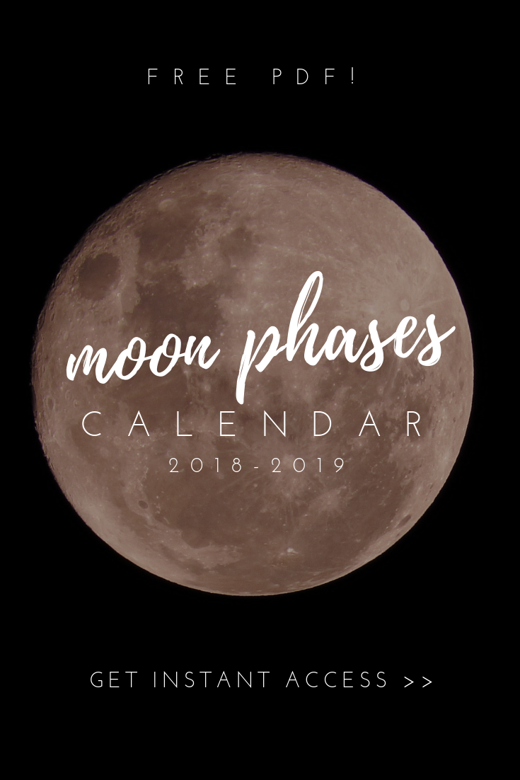 Calendrier Rituals 2018 Free Pdf Moon Phases Calendar 2018 2019 Get Instant Access