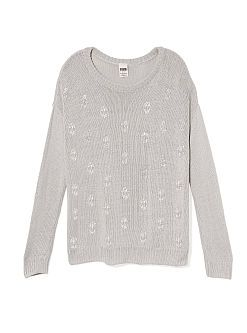 Victoria's Secret. Pink collection. Skull sweater.